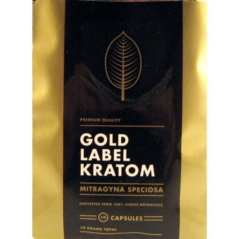 Gold Label Botanical Kratom Extract Capsules Reviews - KVR